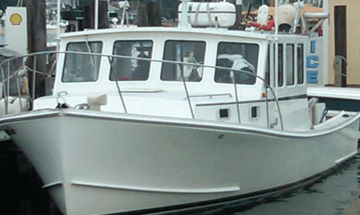 With her tradition New England lines Fish Trap is ready for your next RI fishing charter.