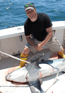 Shark fishing is a favorite of Fish Trap customers.