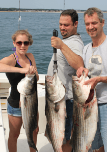 We'll be proud to show your group striper charter trip fishing like you have never seen.